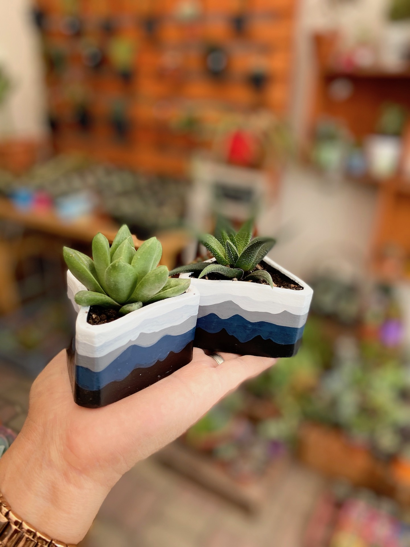 Minipot triangular